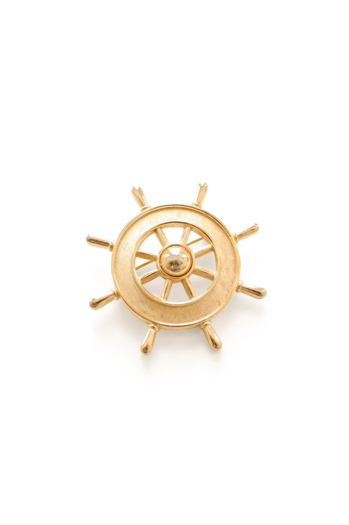 Gold Rudder Brooch