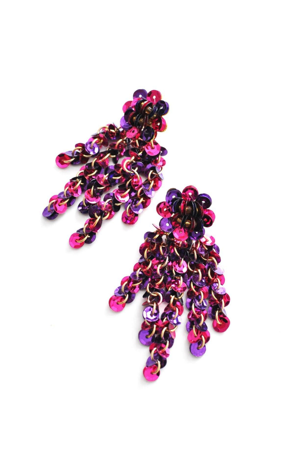 Sequin Waterfall Pierced Earrings