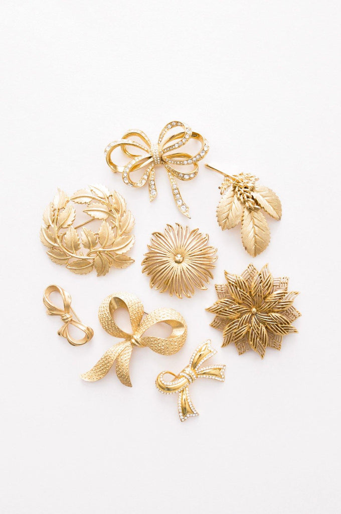 Layered Floral Brooch