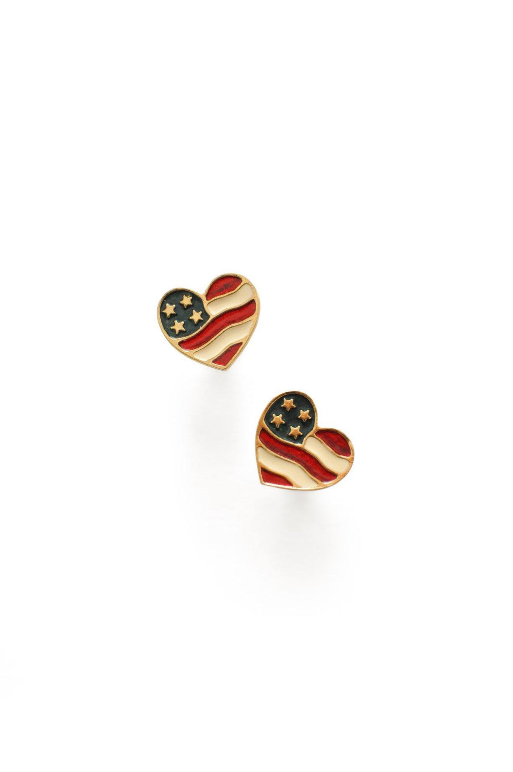 Heart Flag Pierced Earrings