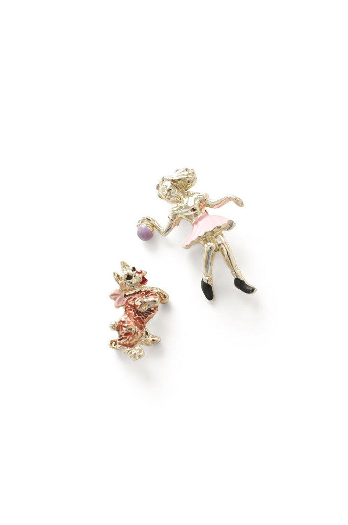 Girl & Dog Set Brooch