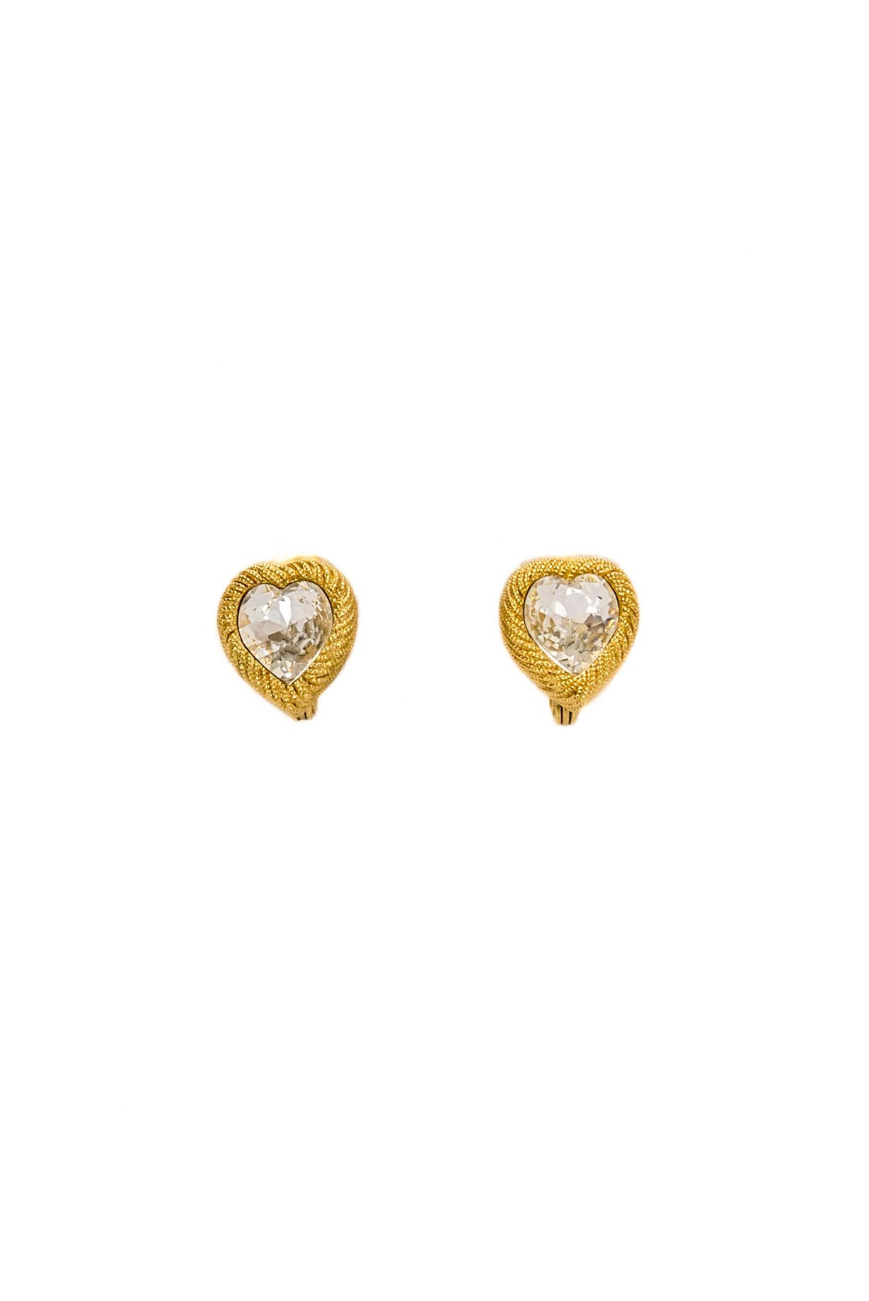 Vintage Monet Heart Clip-on Earrings from Sweet & Spark.