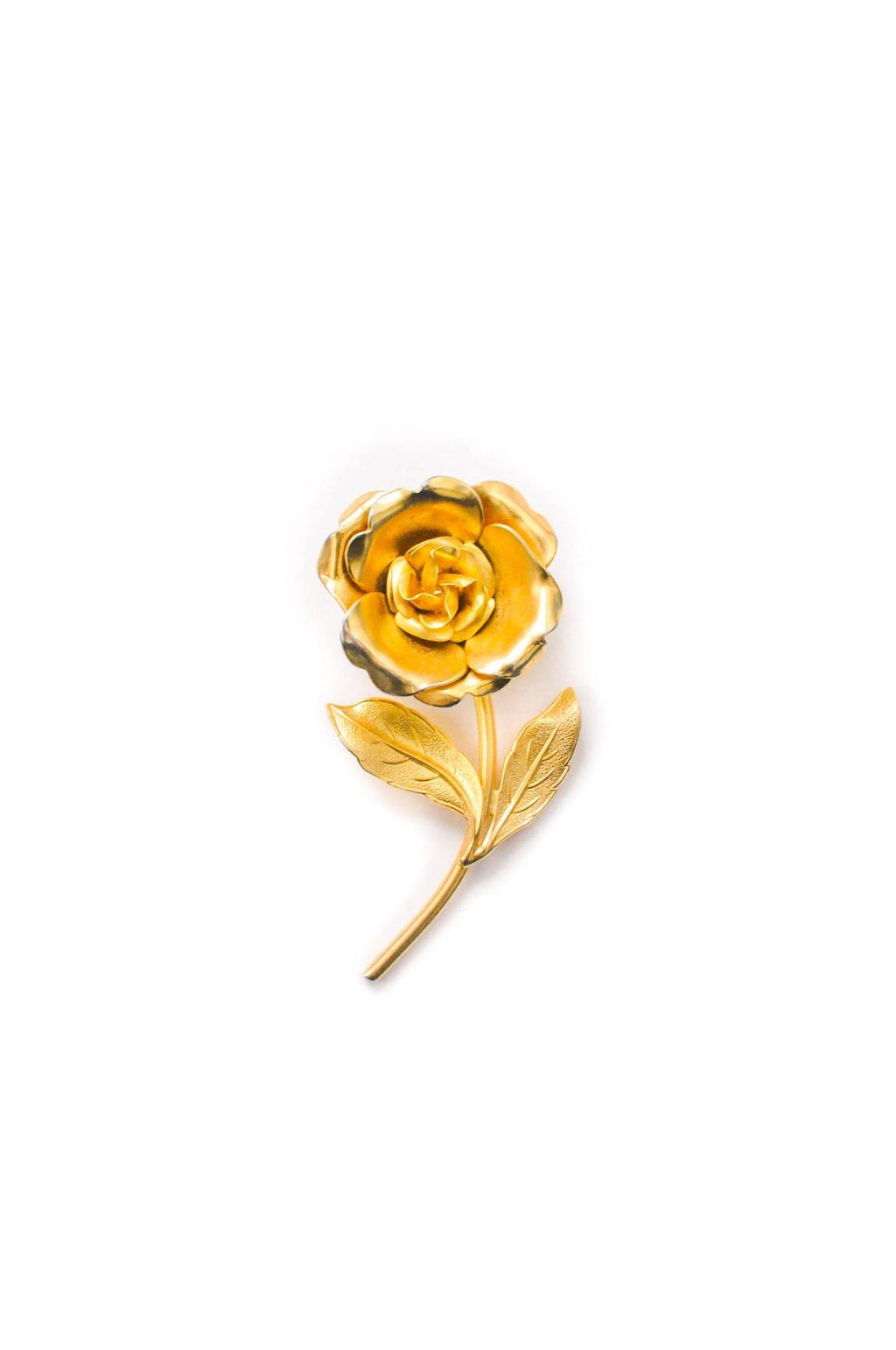 Gold Stem Brooch