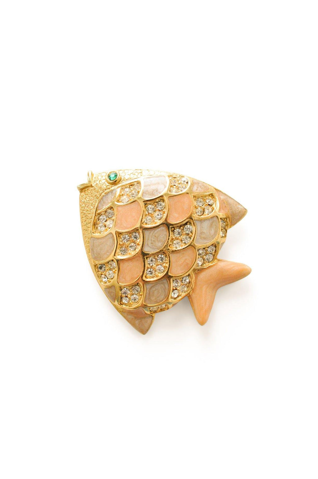 Enamel Fish Brooch