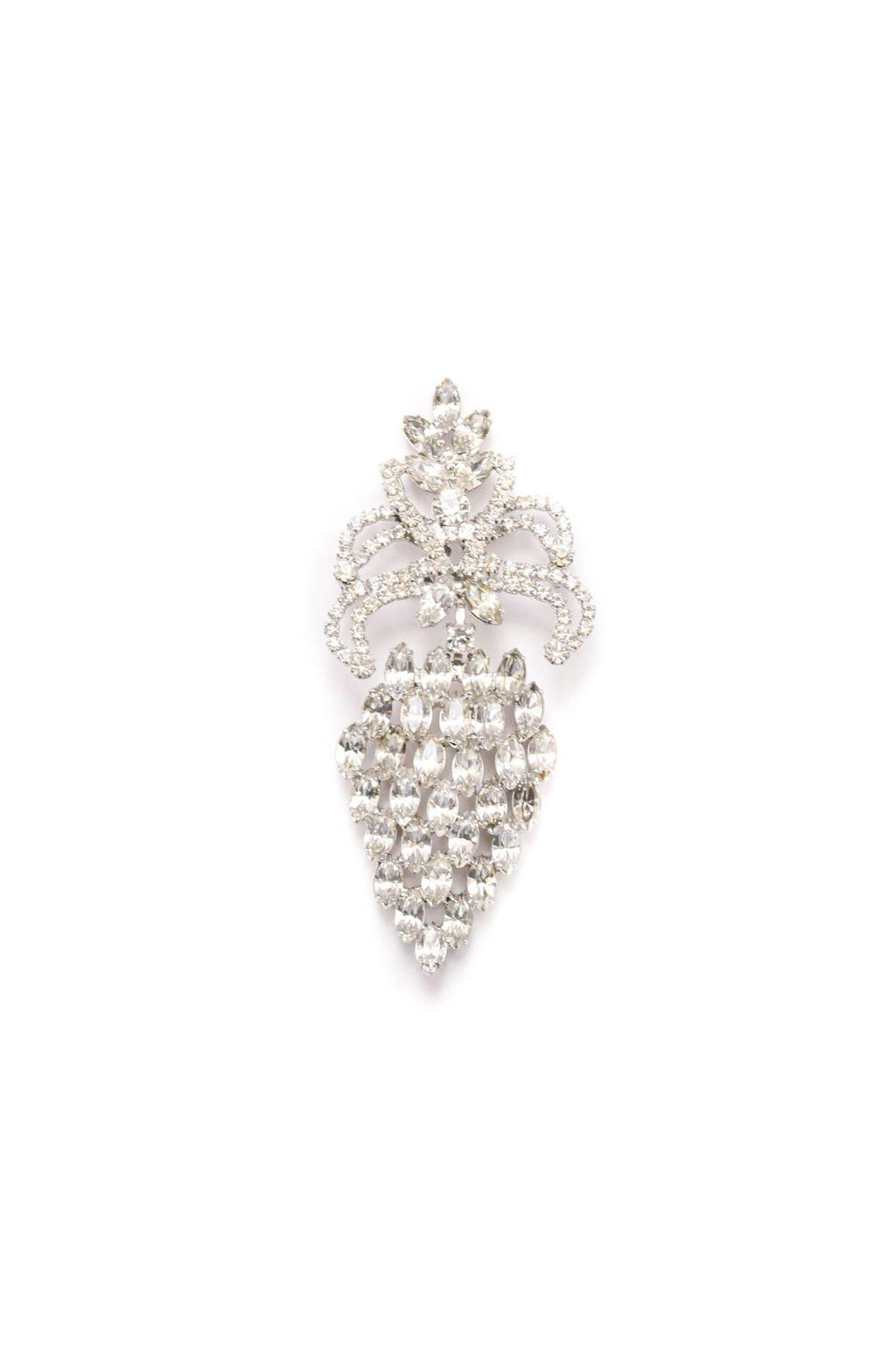 Rhinestone Drop Brooch