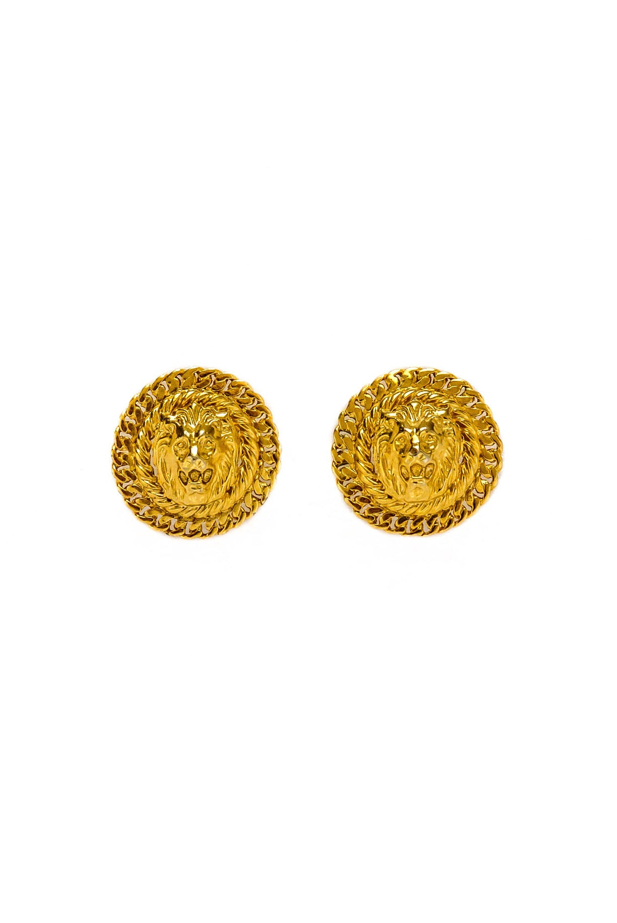 Vintage Lion Head Coin Earrings from Sweet & Spark.