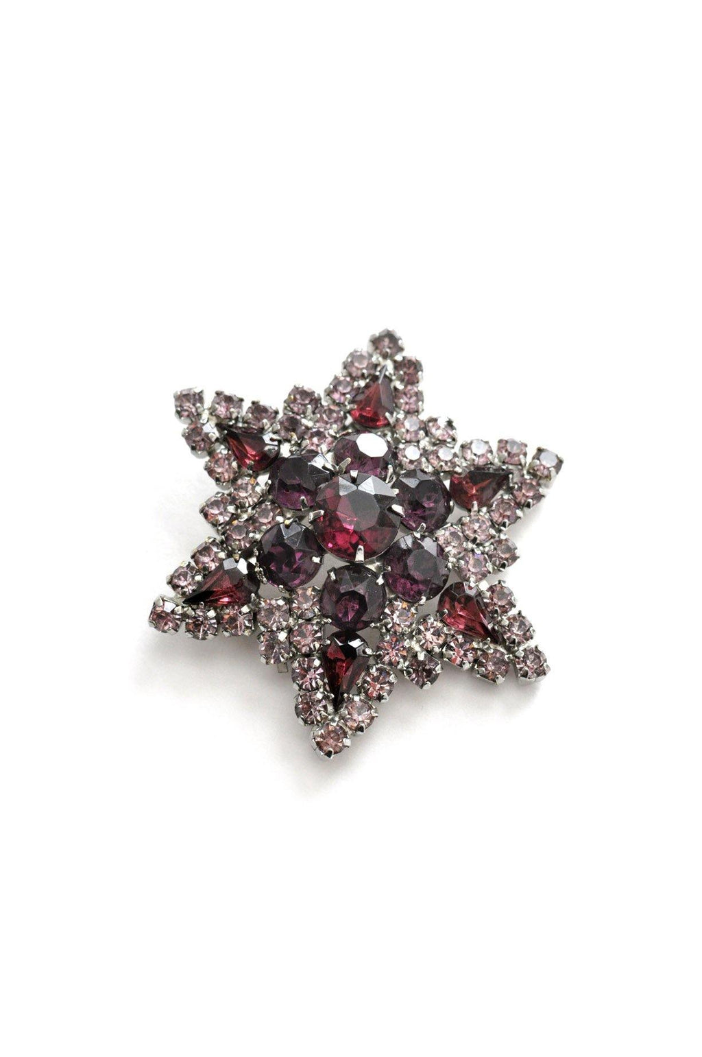 Purple Rhinestone Star Brooch