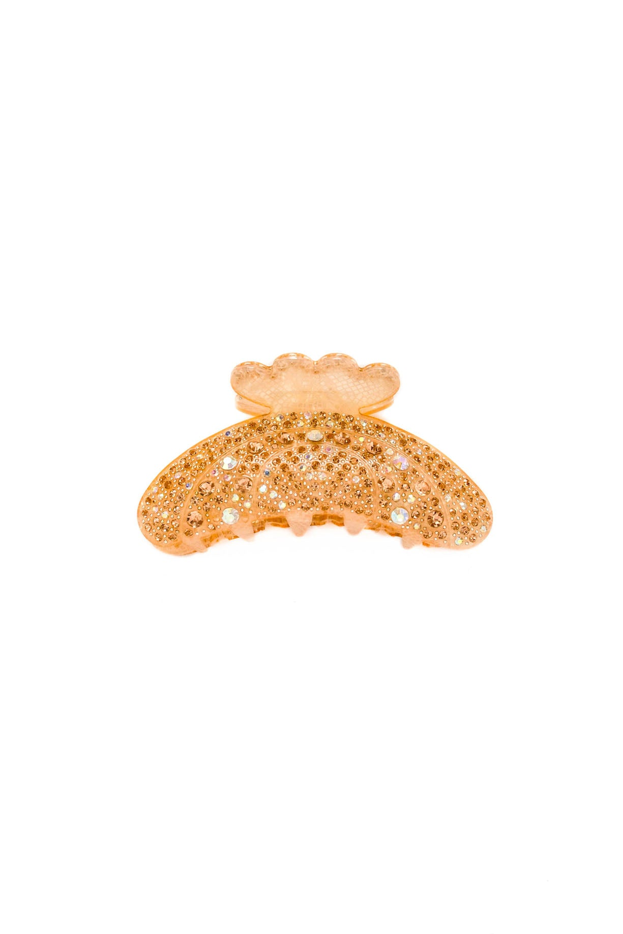 Vintage Peach Rhinestone Hair Clip from Sweet and Spark