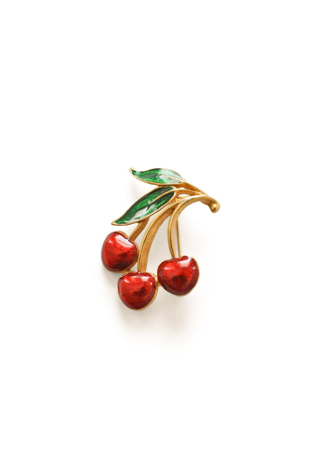Cherry Rhinestone Brooch