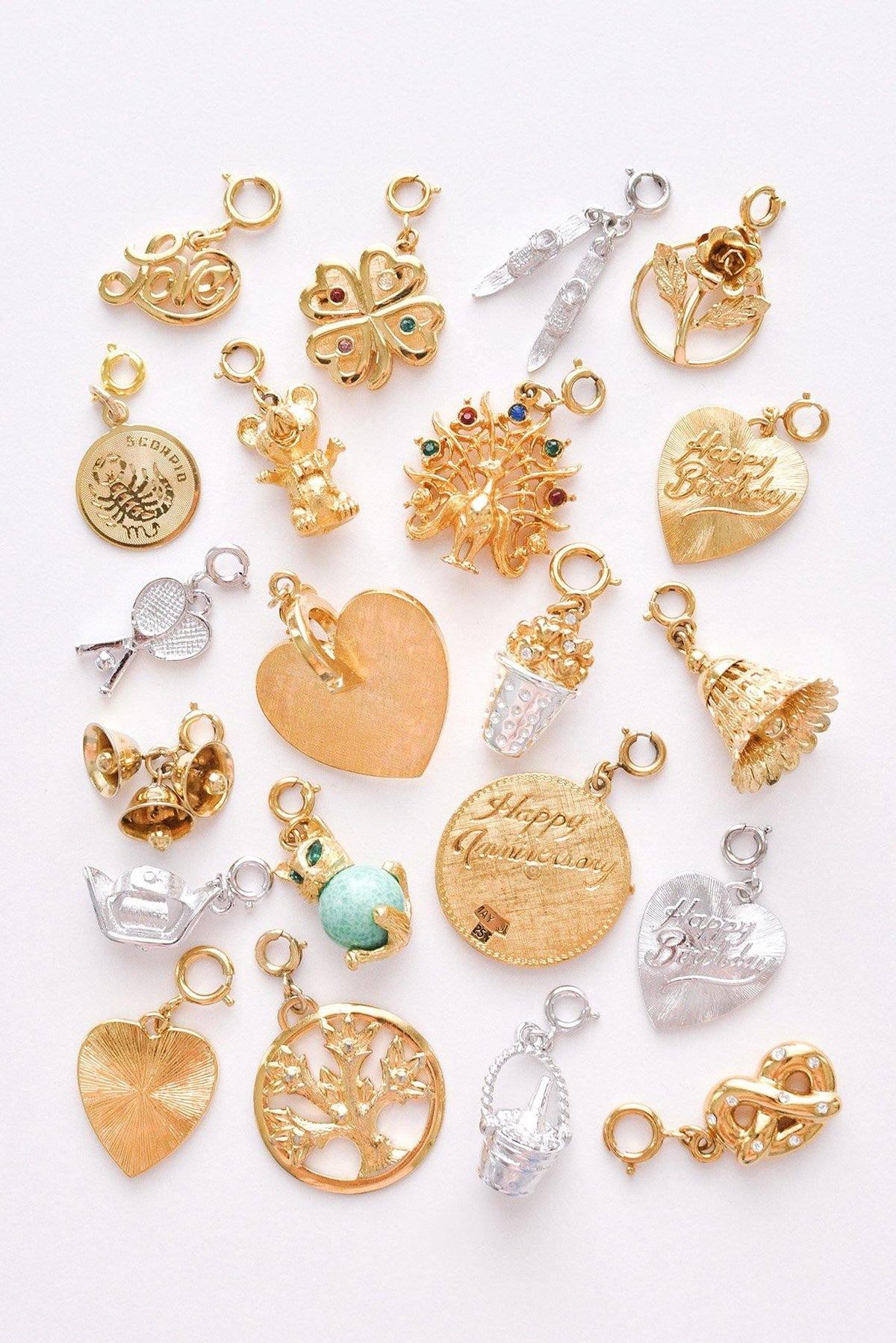 Vintage charms from Sweet & Spark.