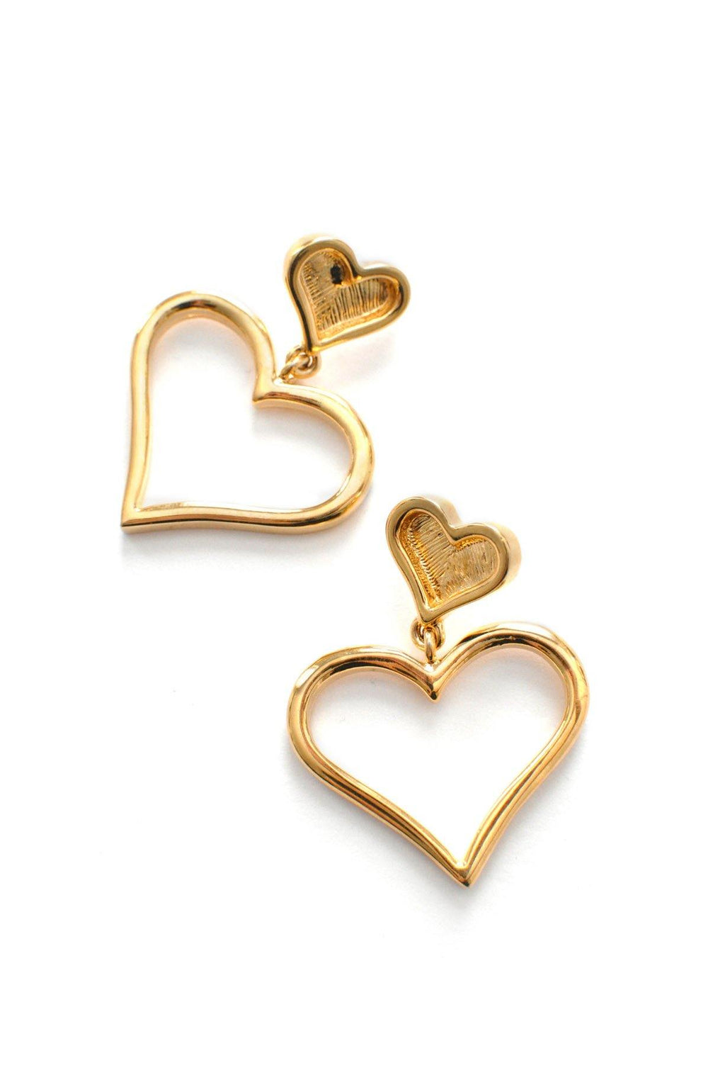 St. John Heart Pierced Earrings