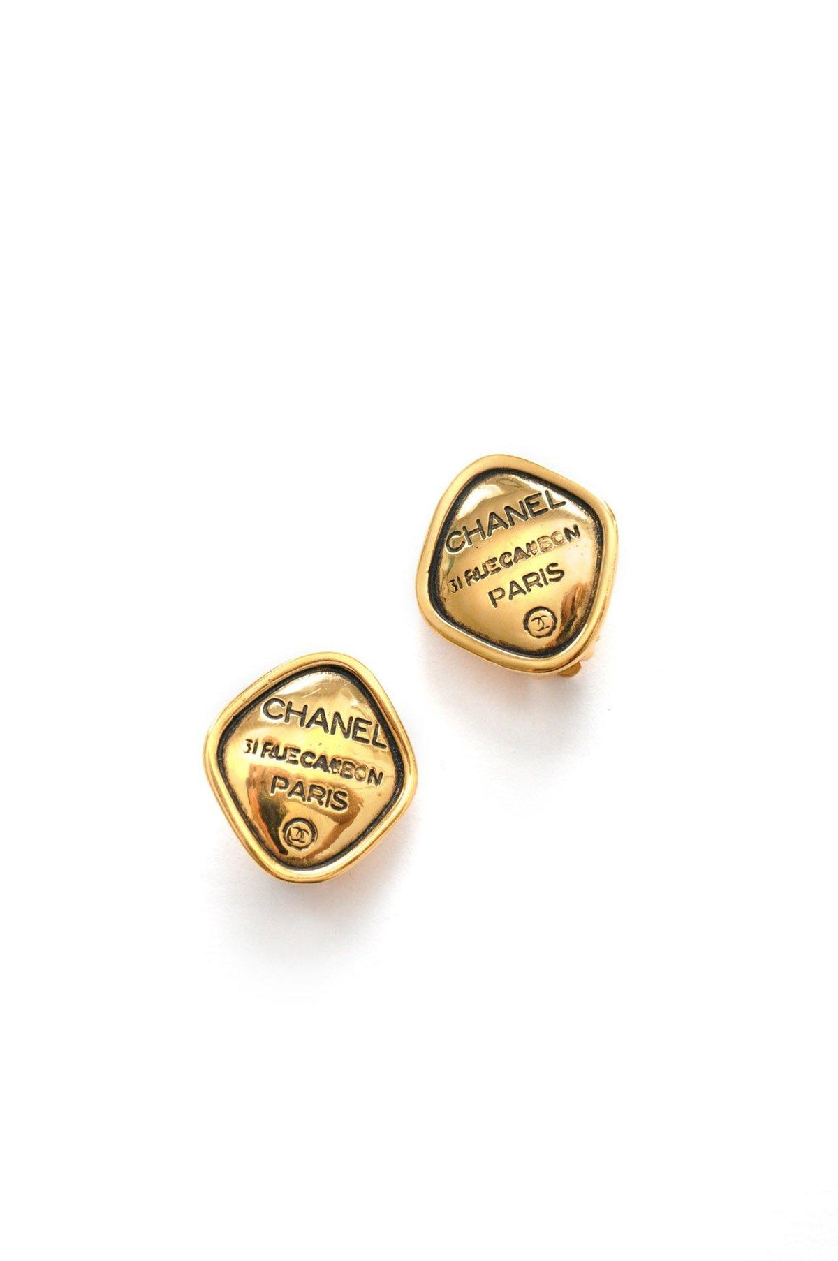 Vintage Chanel statement clip-on earrings from Sweet & Spark.