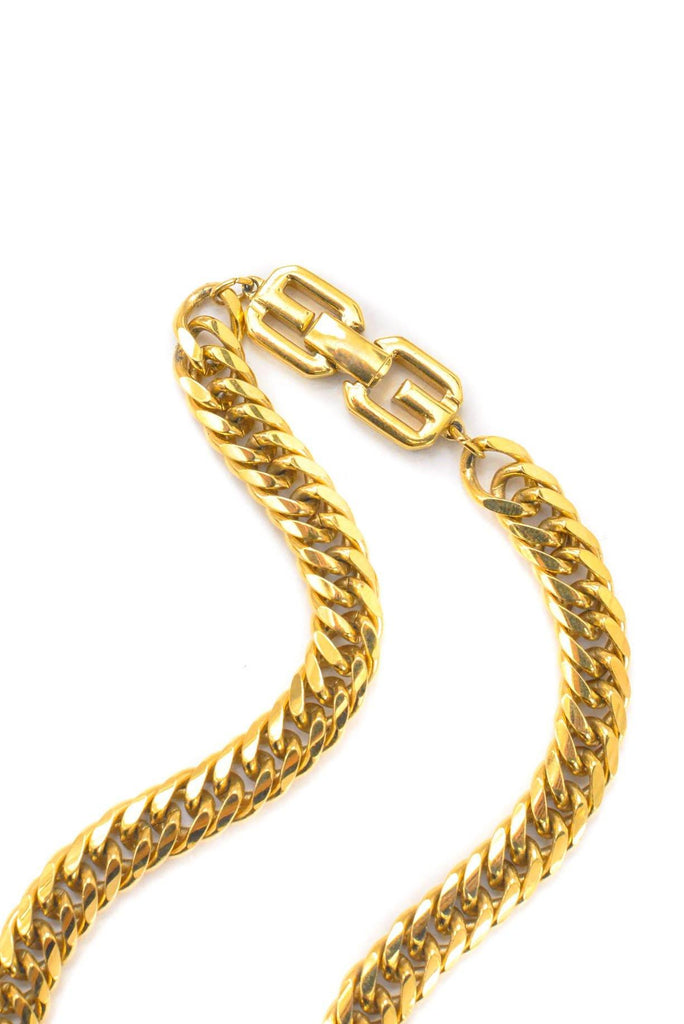 Givenchy Flat Curb Chain Necklace
