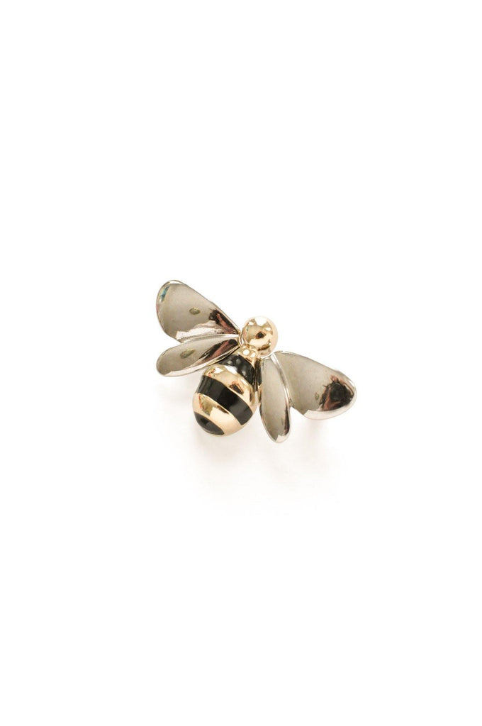 Silver Bee Brooch