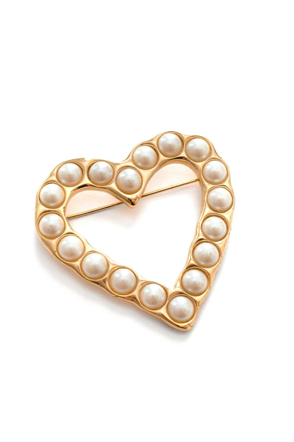 Givenchy Pearl Heart Brooch