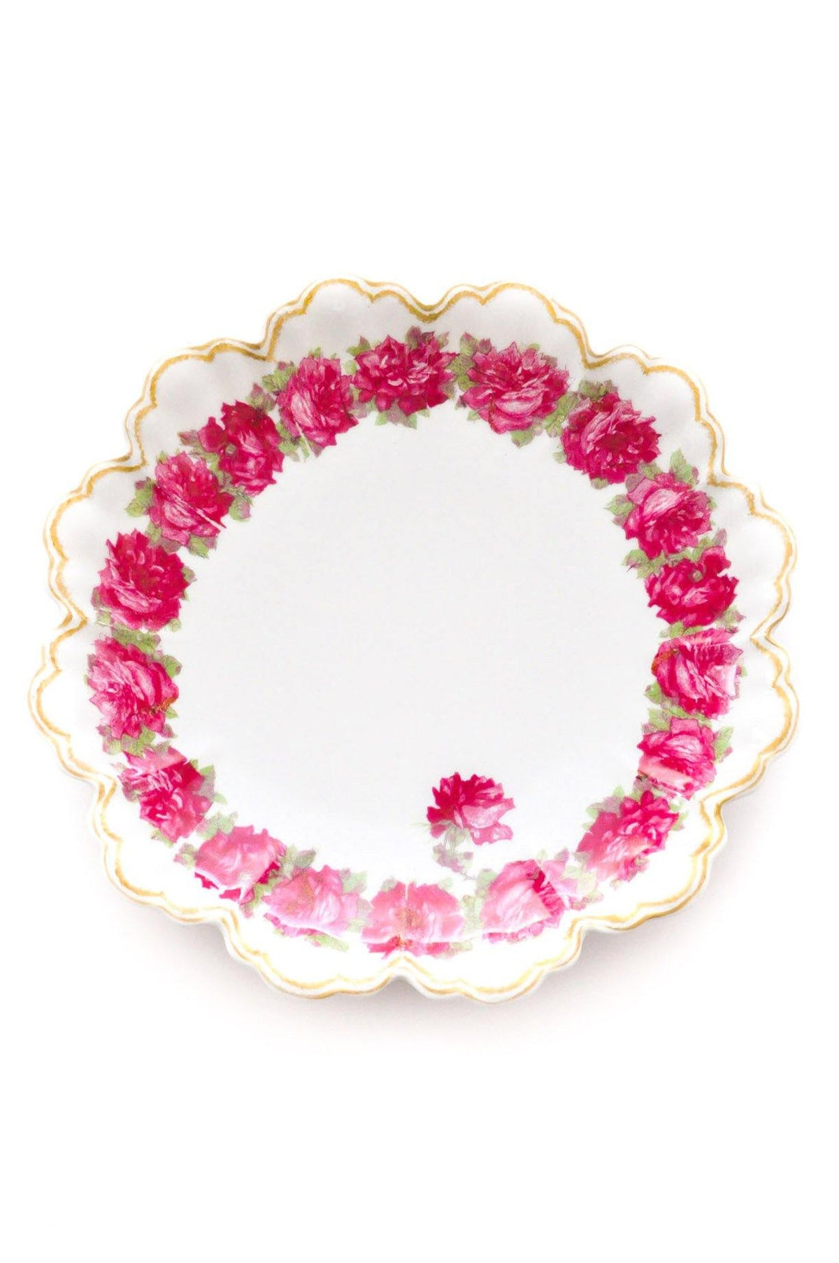 Vintage floral jewelry dish from Sweet & Spark.