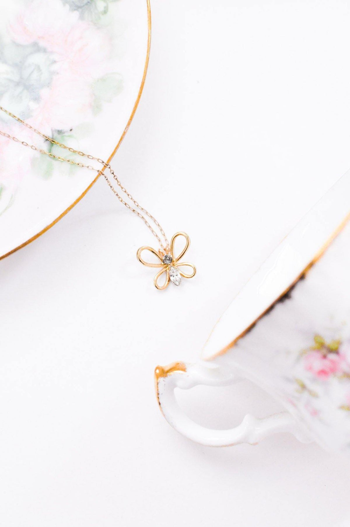 Dainty Butterfly Necklace - Sweet & Spark