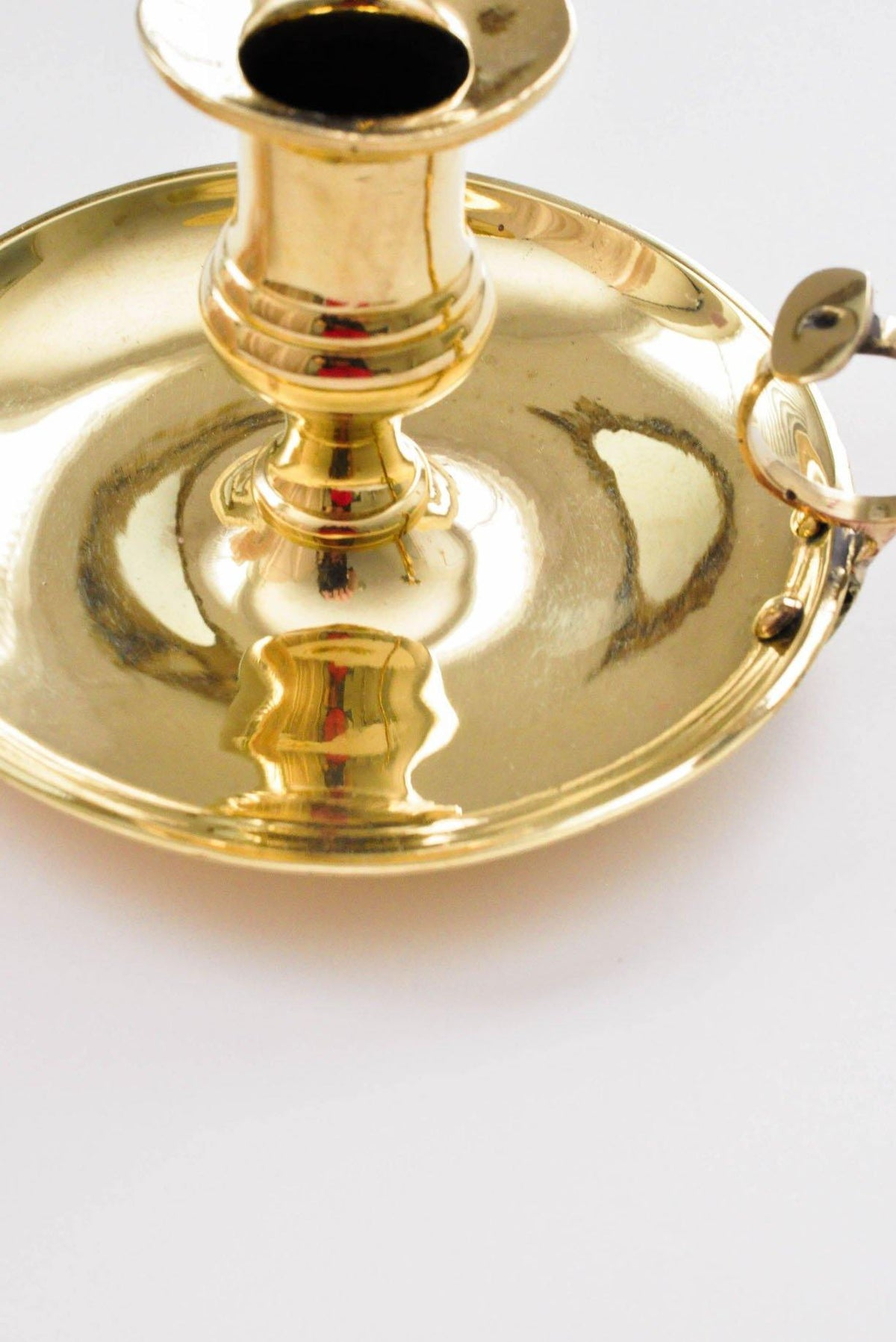Wide Brass Candle Holder - Sweet & Spark