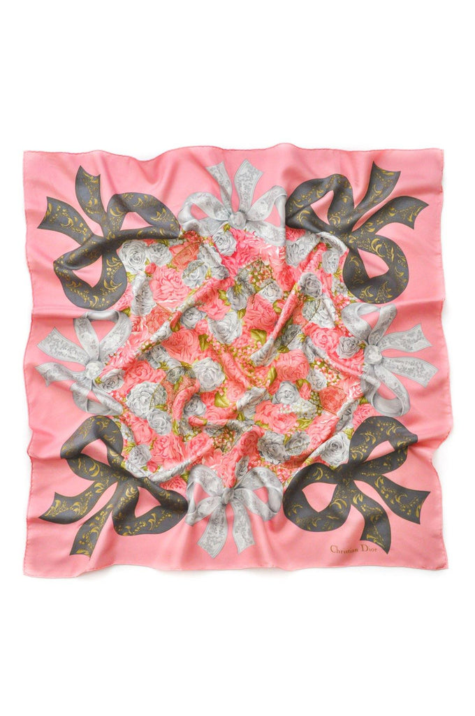 Christian Dior Lace Bow Square Scarf