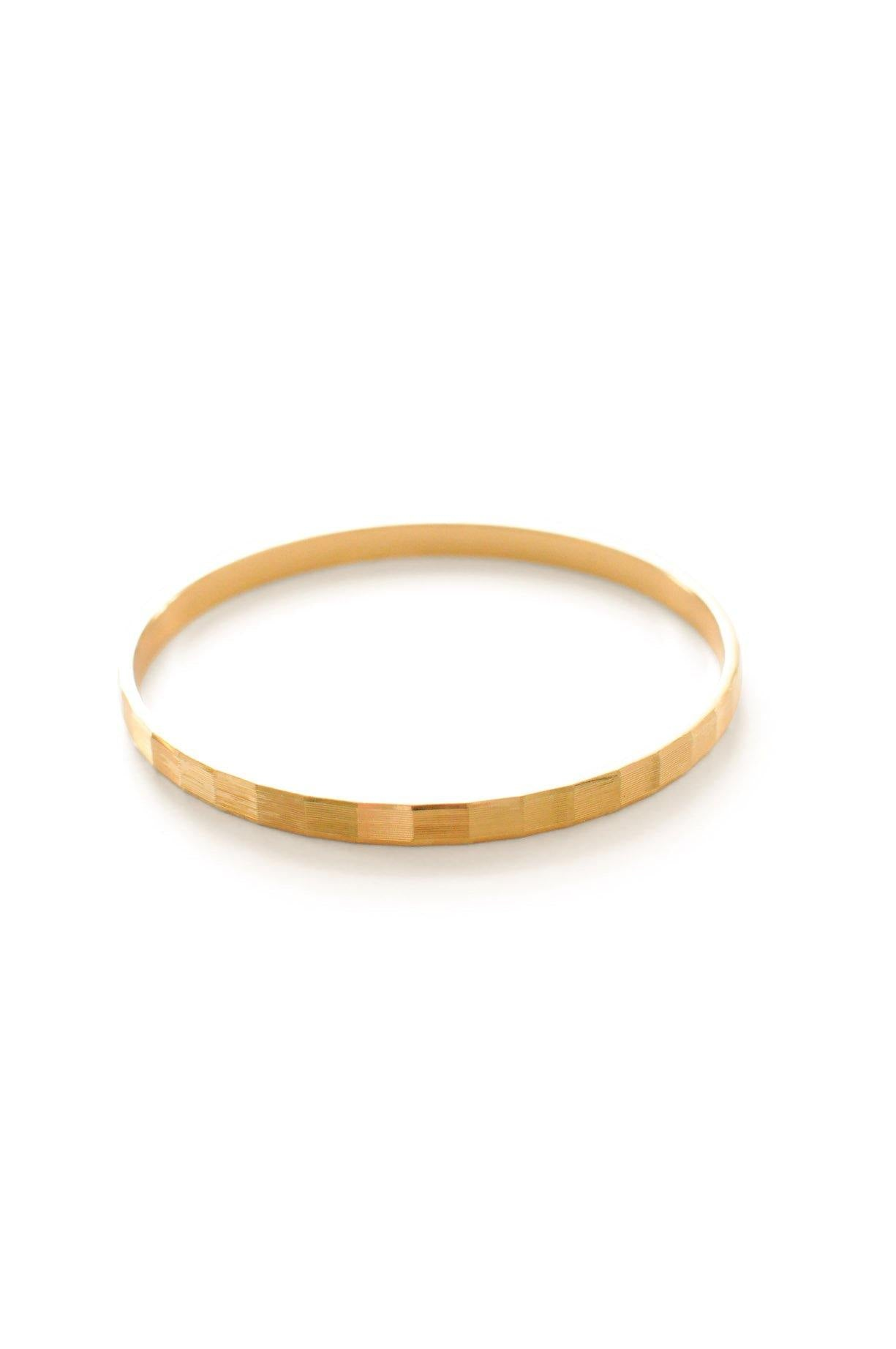 Thin Embossed Gold Bangle