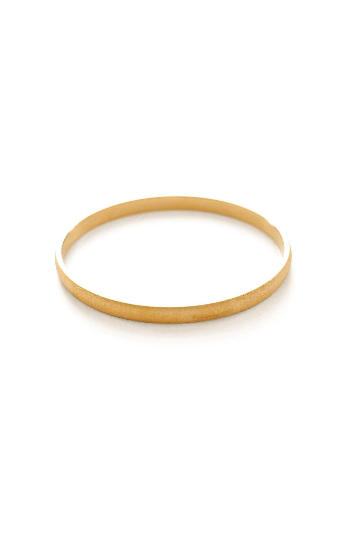Thin Etched Gold Bangle
