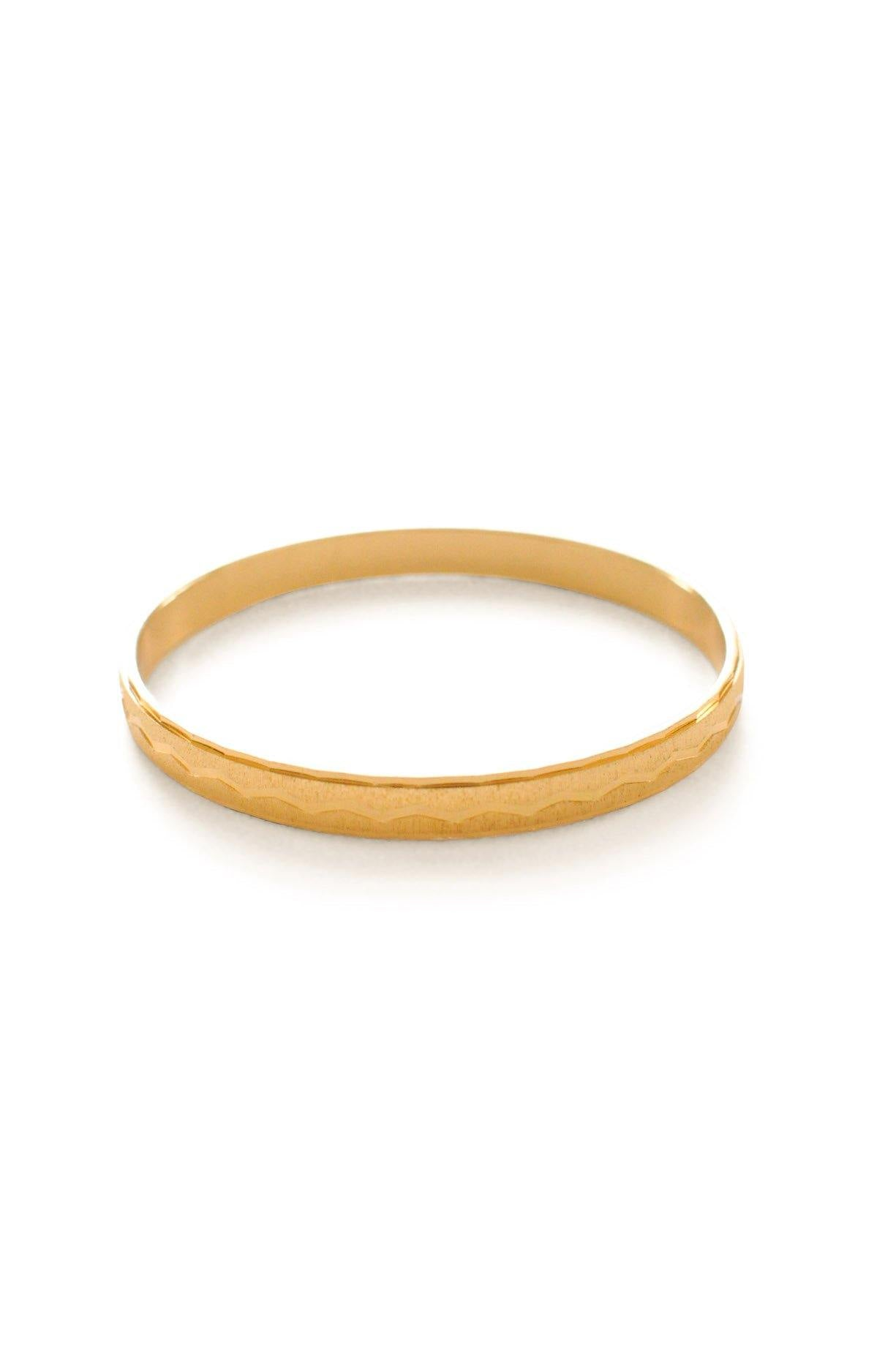 Monet Gold Etched Bangle