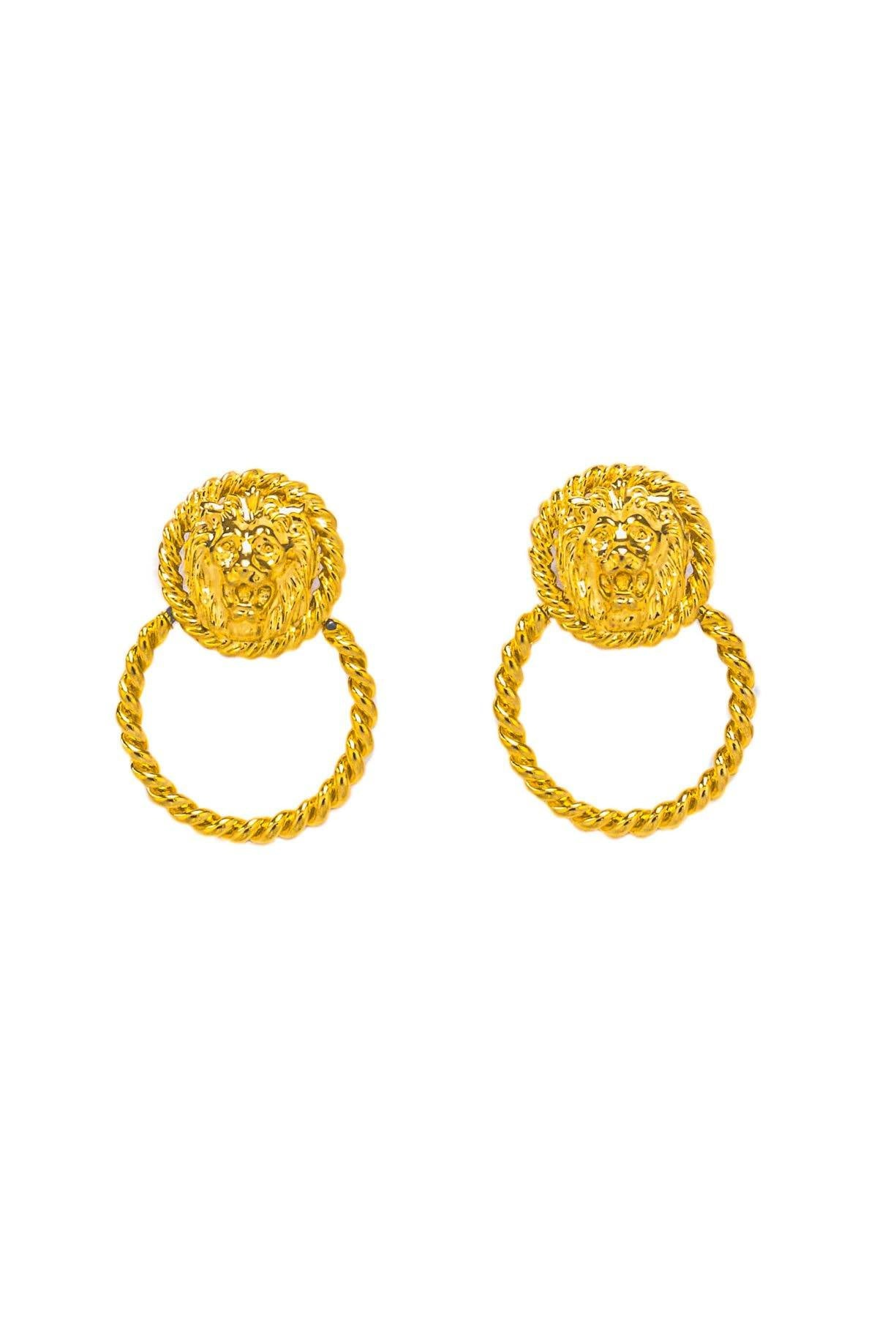 Lion Door Knocker Clip-on Earrings - Sweet & Spark