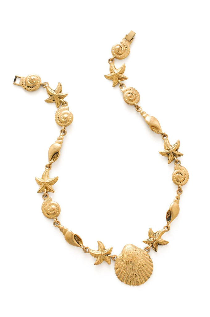 Gold Shell Link Necklace