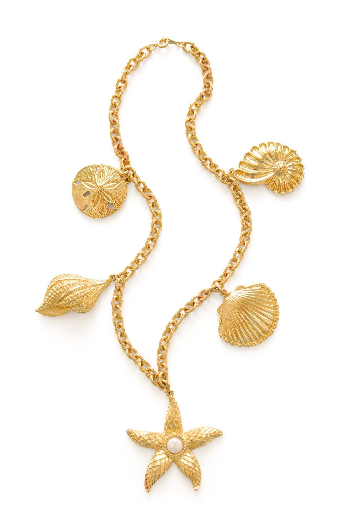 Kenneth Jay Lane Seashell Statement Necklace