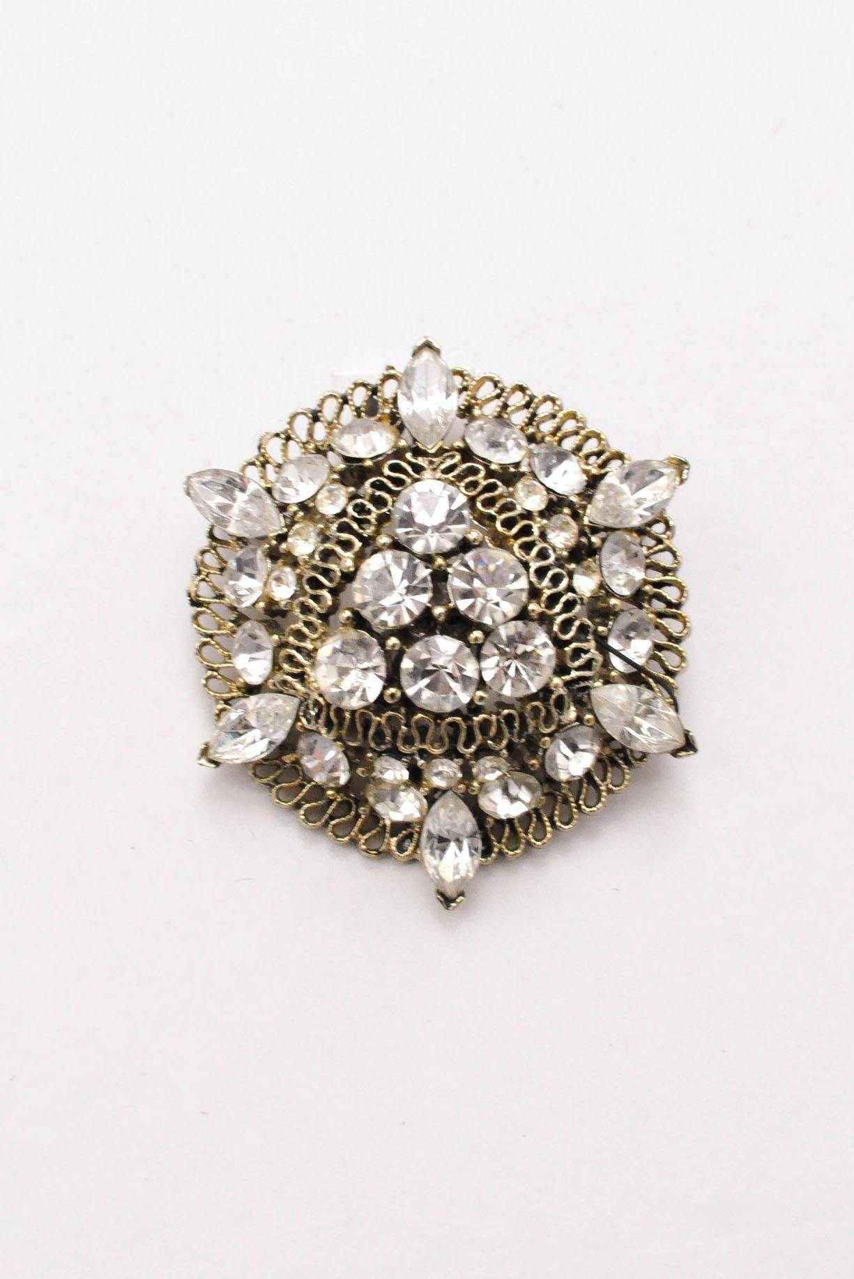 Rhinestone burst brooch from Sweet & Spark.