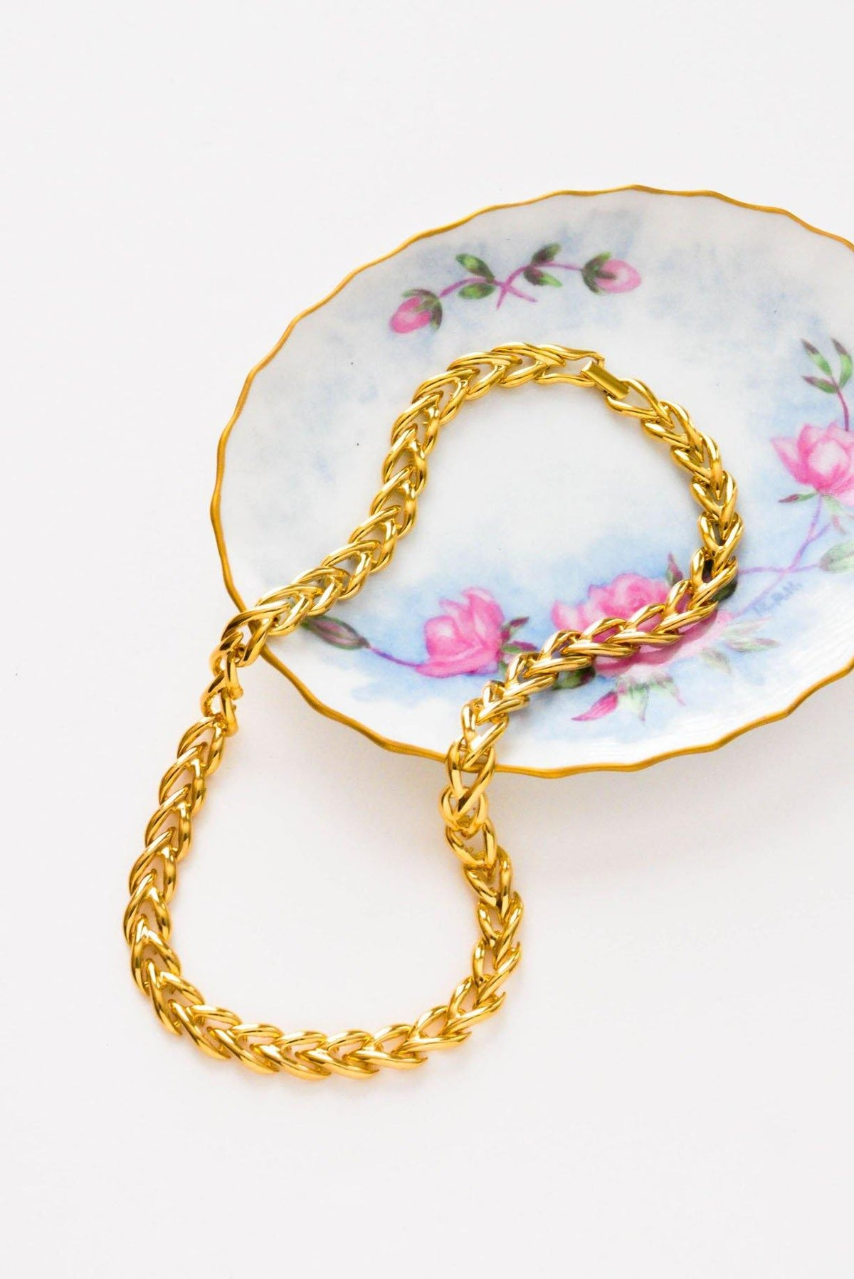 Braided Gold Necklace - Sweet & Spark