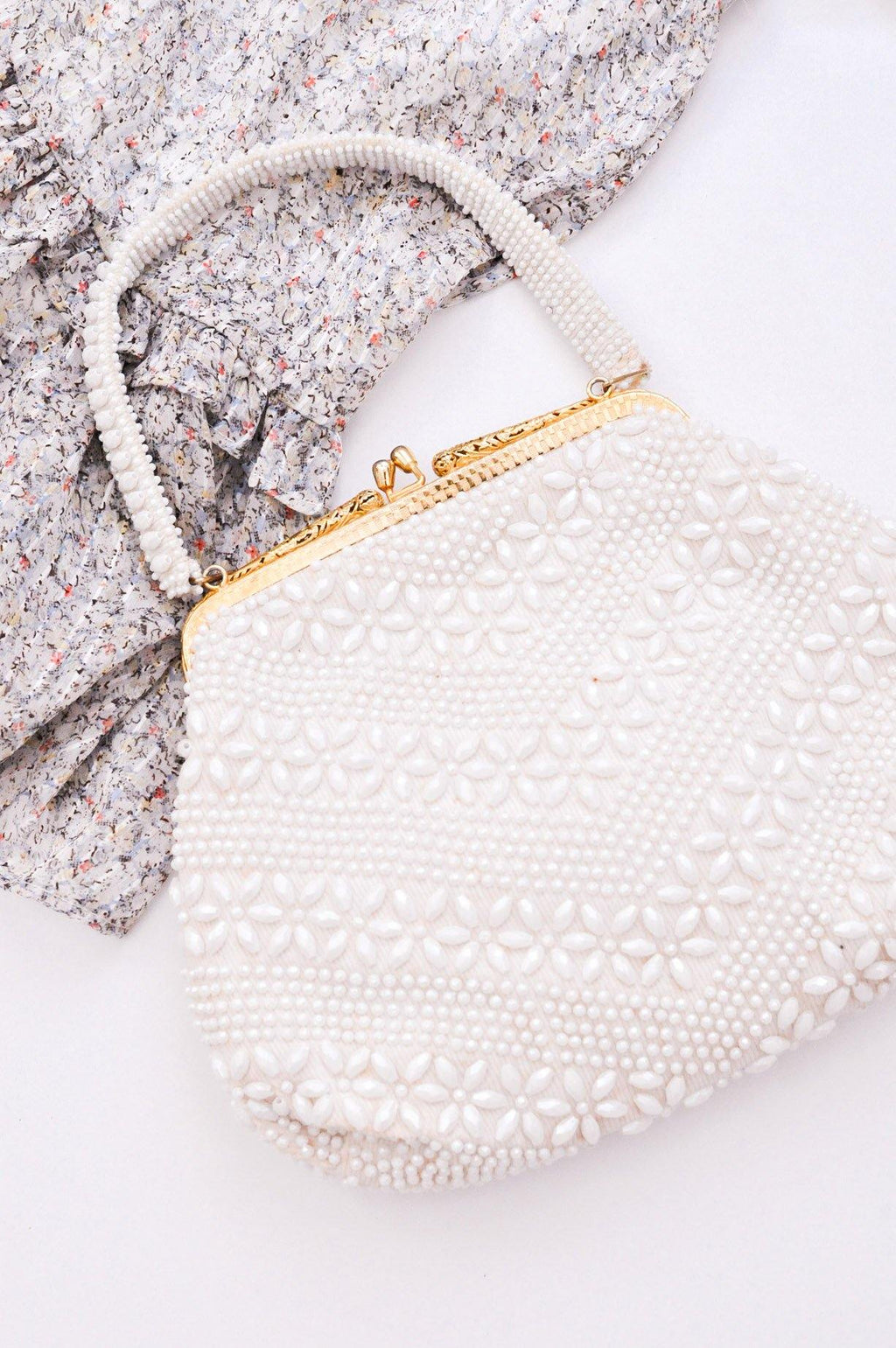 Pearl Floral Beaded Bag