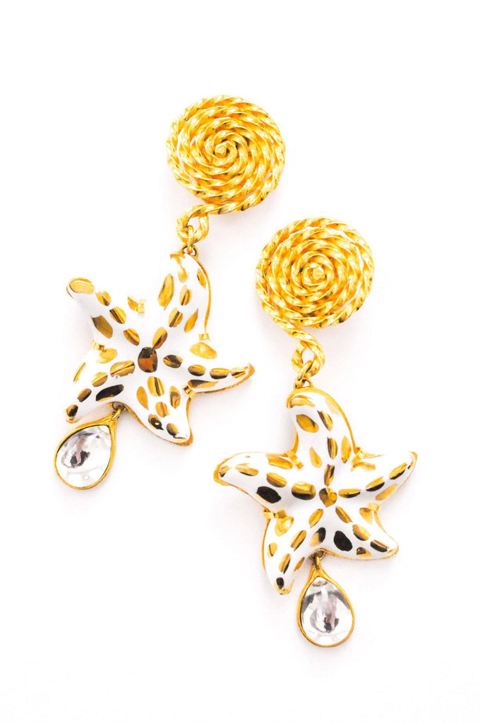 YSL Statement Starfish Clip-on Earrings