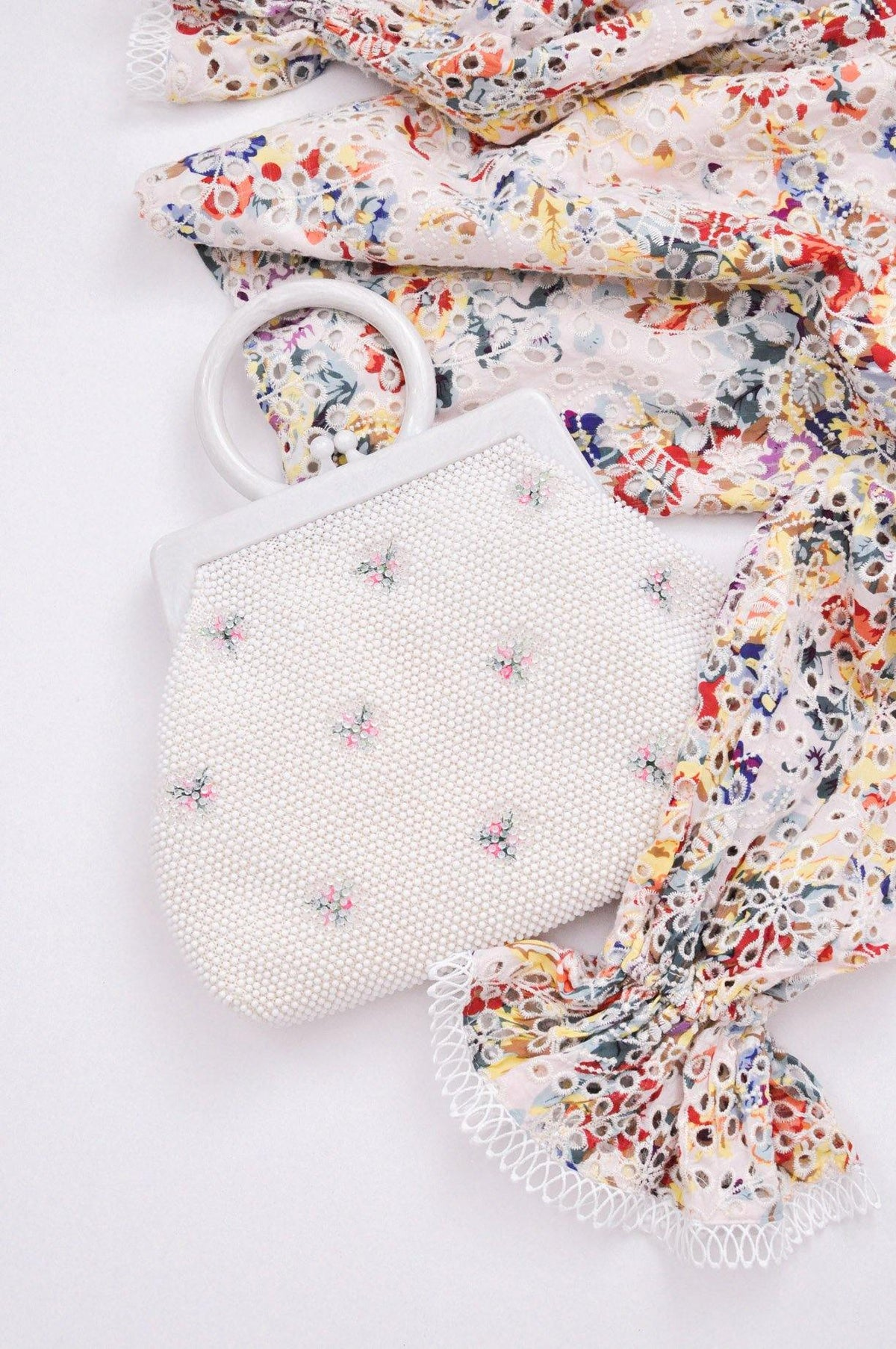 Vintage beaded and floral bag from Sweet & Spark.