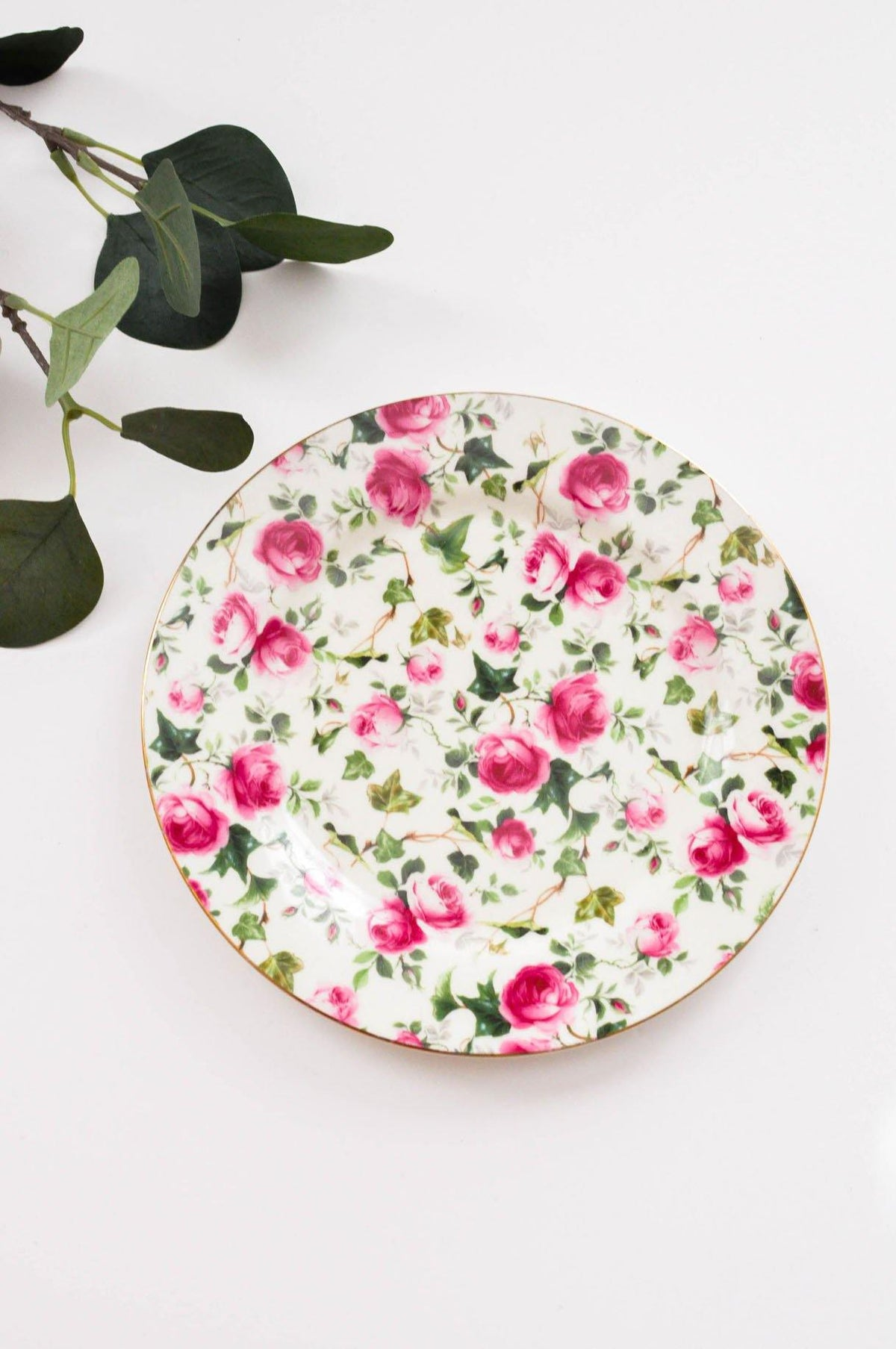 Vintage Formalities Floral Plate from Sweet & Spark.
