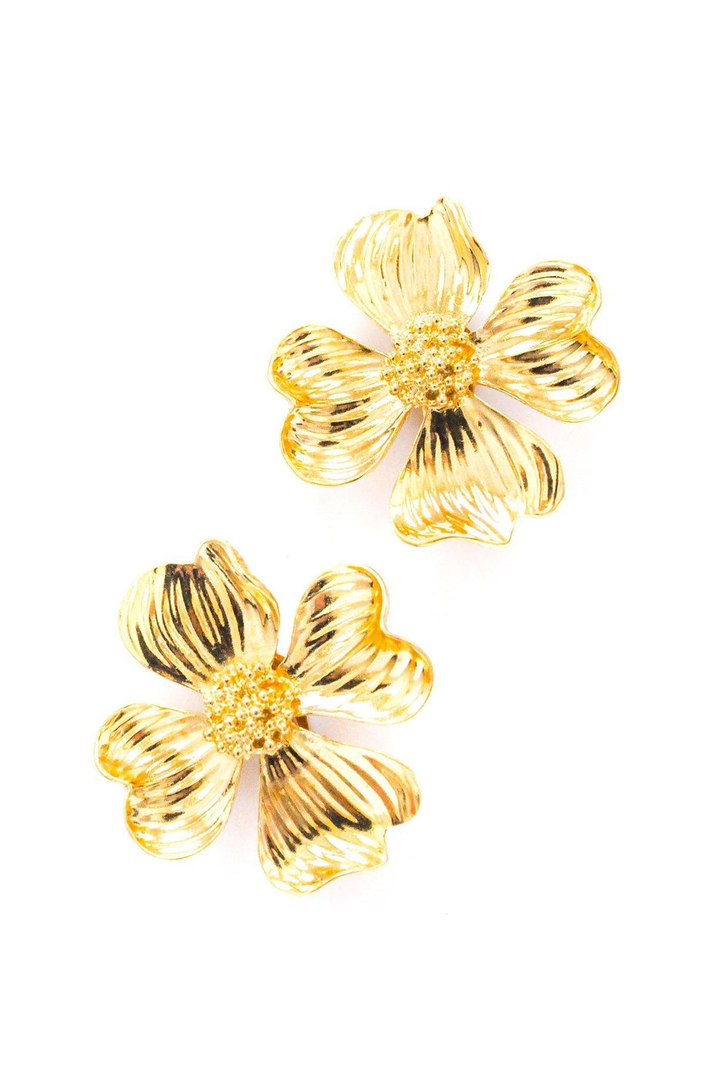 St. John Floral Clip-on Earrings