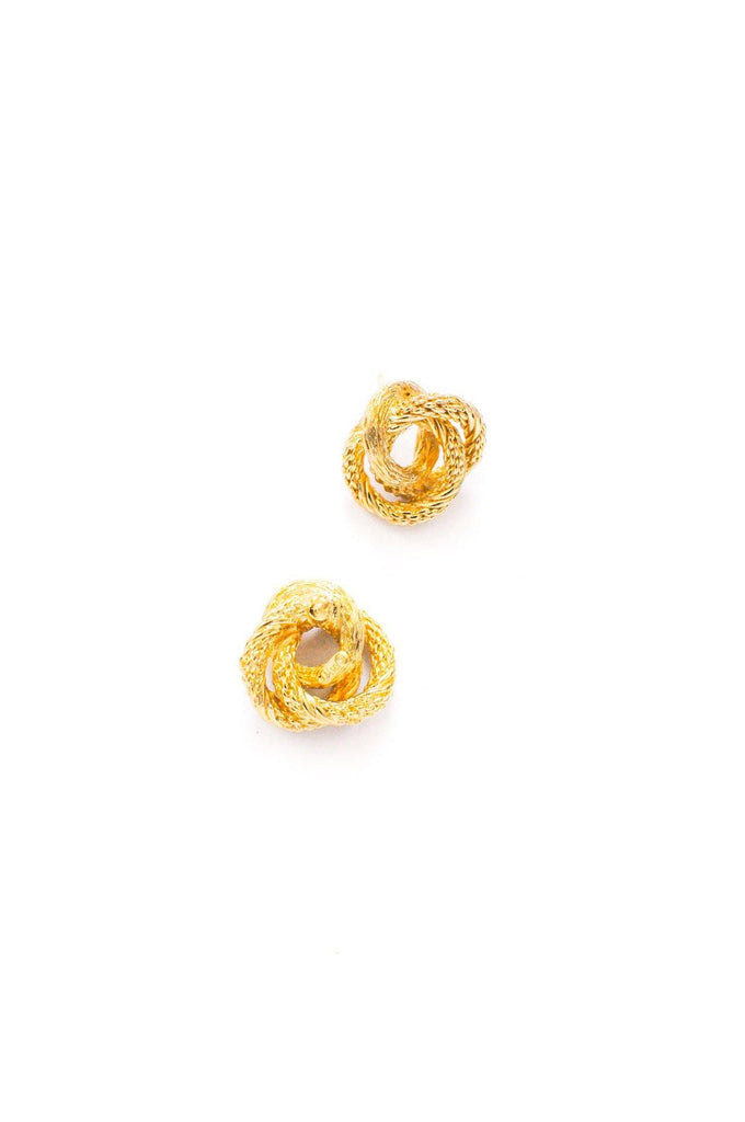 Christian Dior Love Knot Pierced Earrings