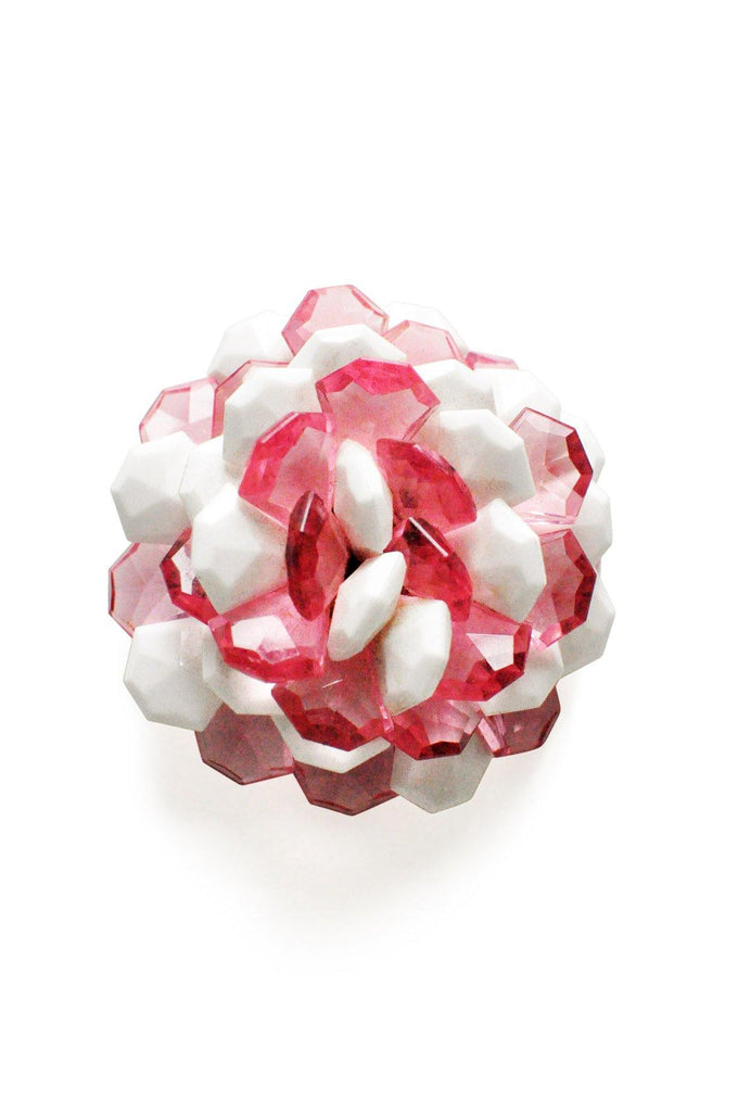 Pink & White Burst Brooch