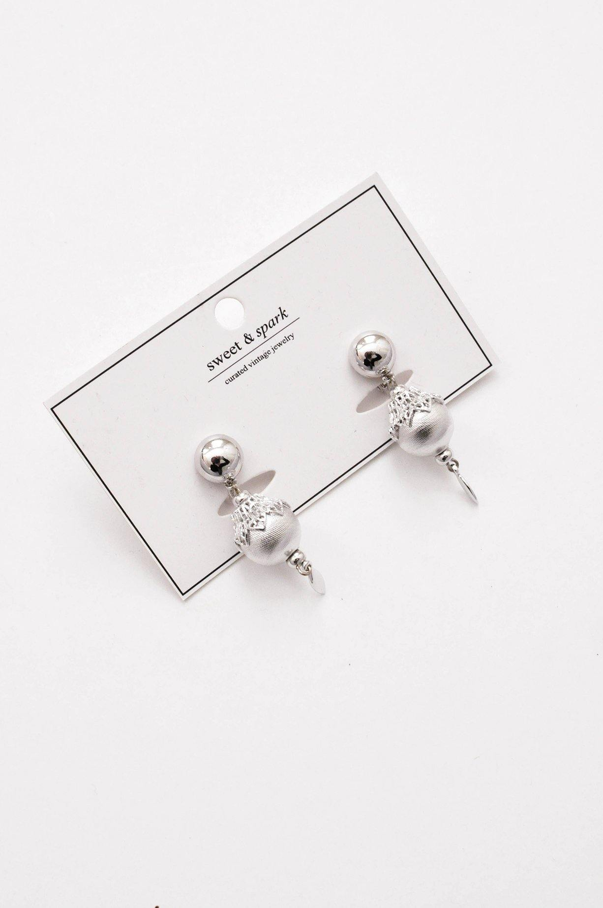 Silver Drop Clip-on Earrings - Sweet & Spark