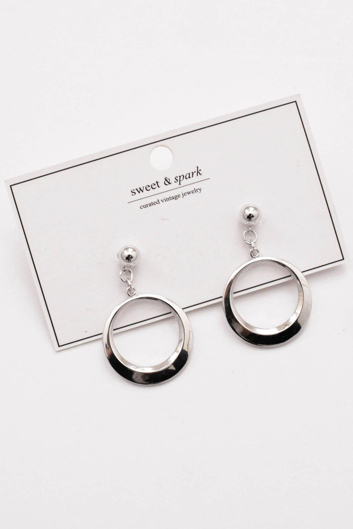 Silver Hoop Pierced Earrings