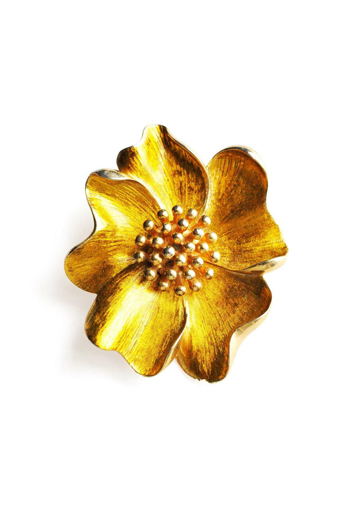 Brushed Floral Brooch