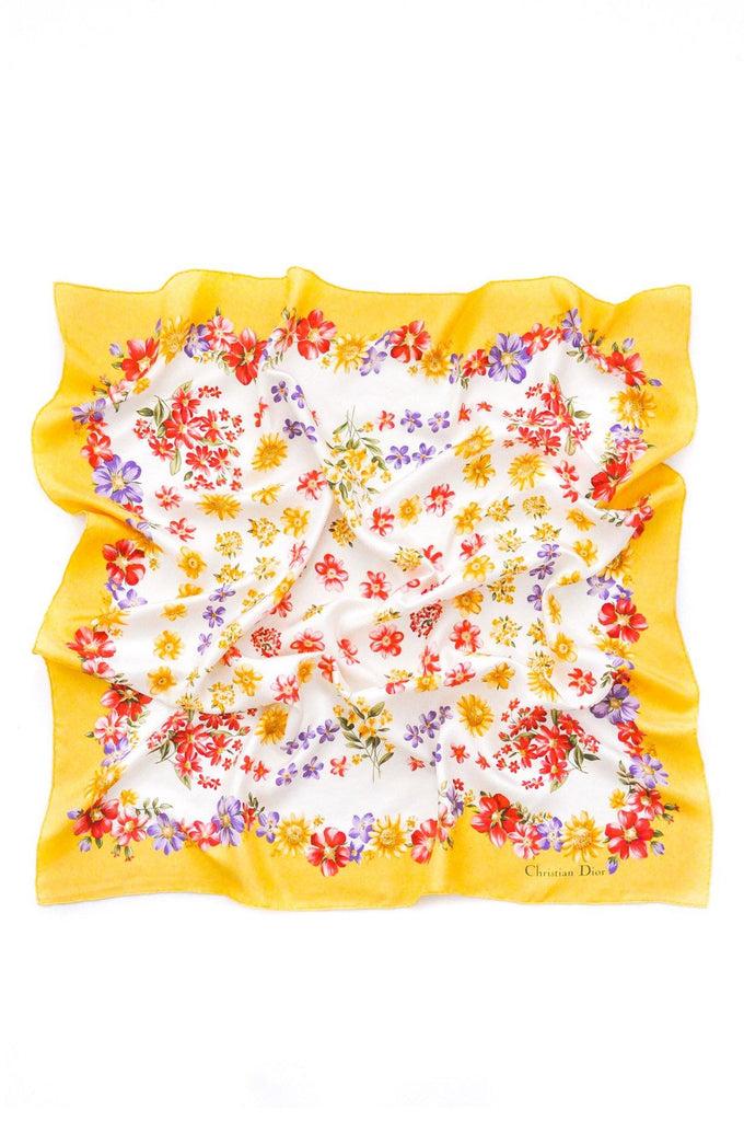 Christian Dior Floral Square Scarf