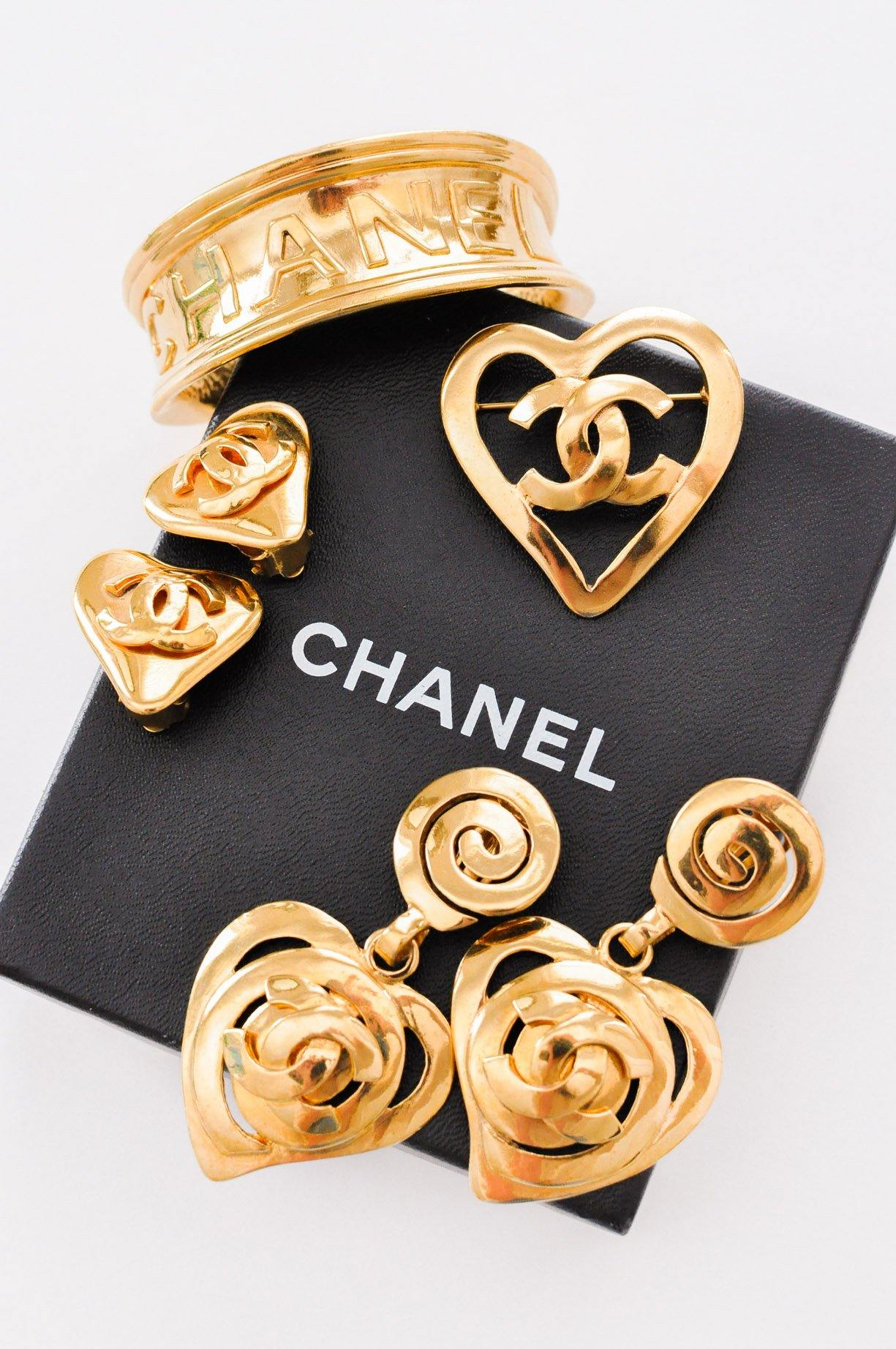 Chanel Heart Clip-on Earrings
