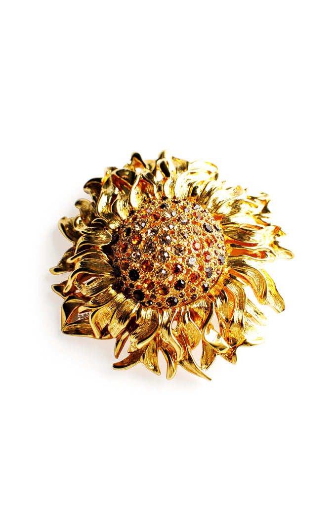 Statement Sunflower Brooch