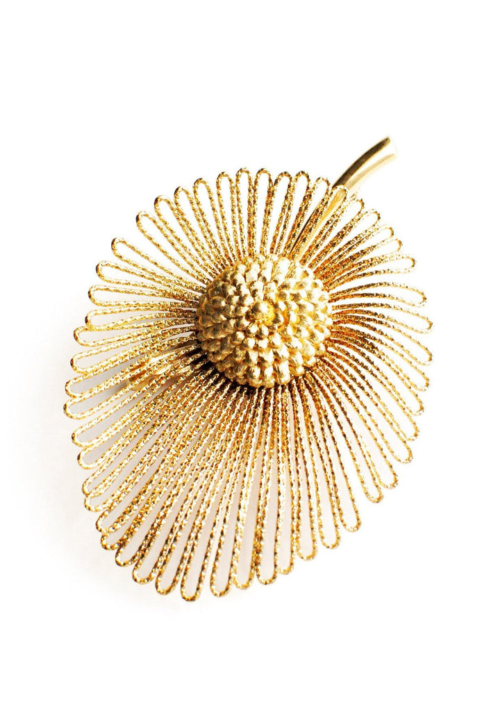 Monet Gold Leaf Brooch