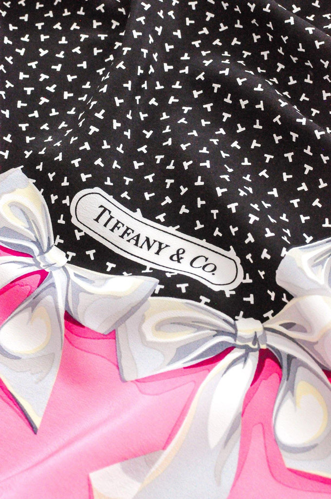 Tiffany & Co. Pink Bow Square Scarf