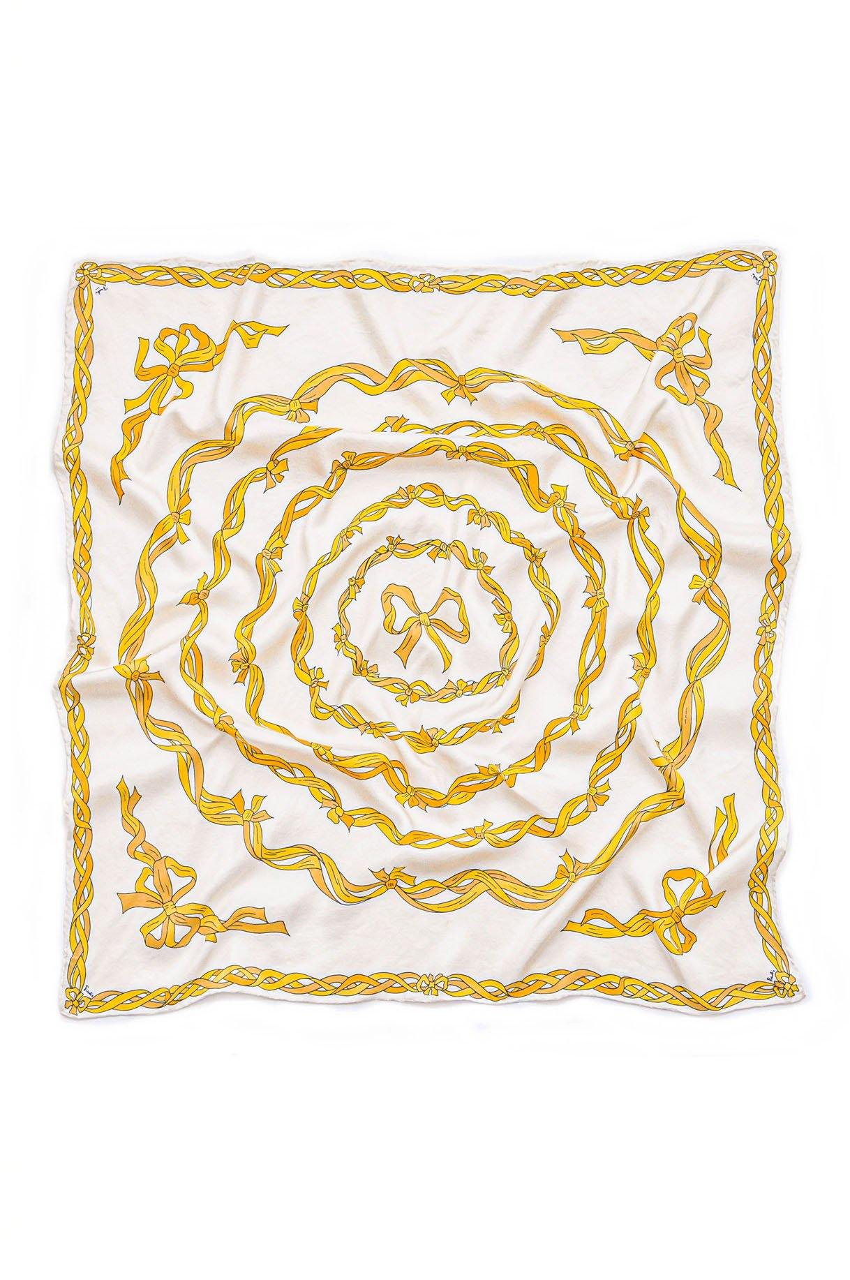 Vintage Pucci Gold Bows Scarf from Sweet and Spark