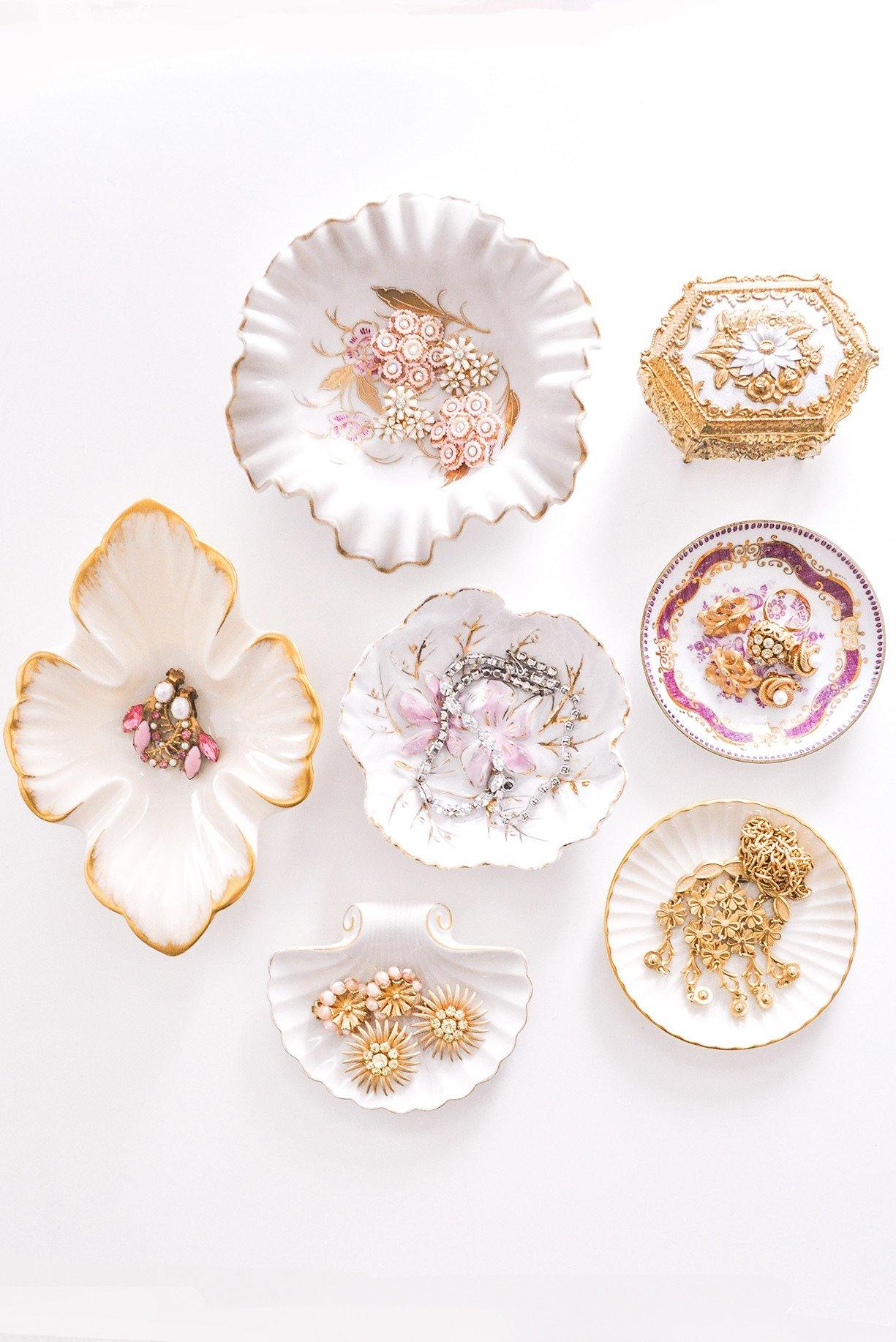 Open Floral Jewelry Dish