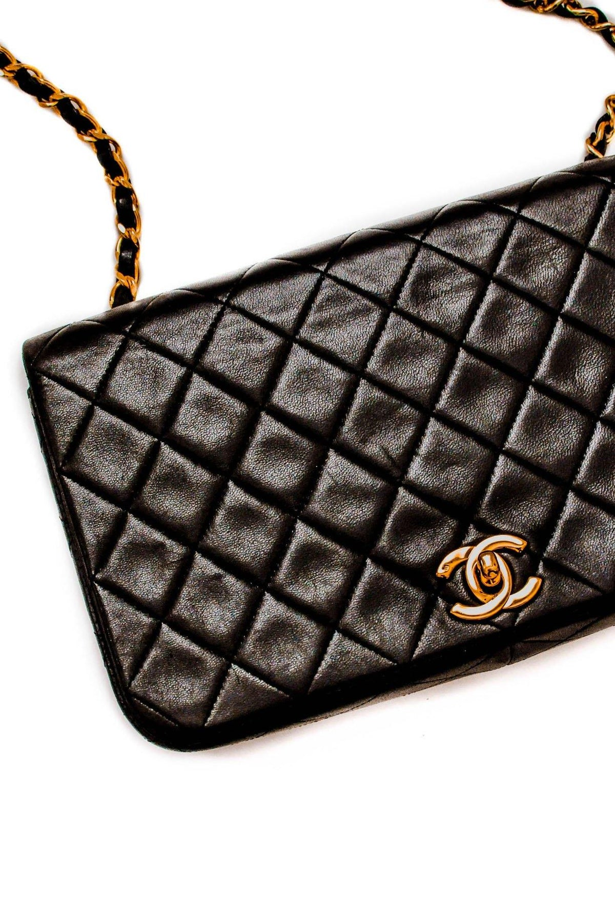Vintage Chanel CC Full Flap Crossbody Bag from Sweet and Spark