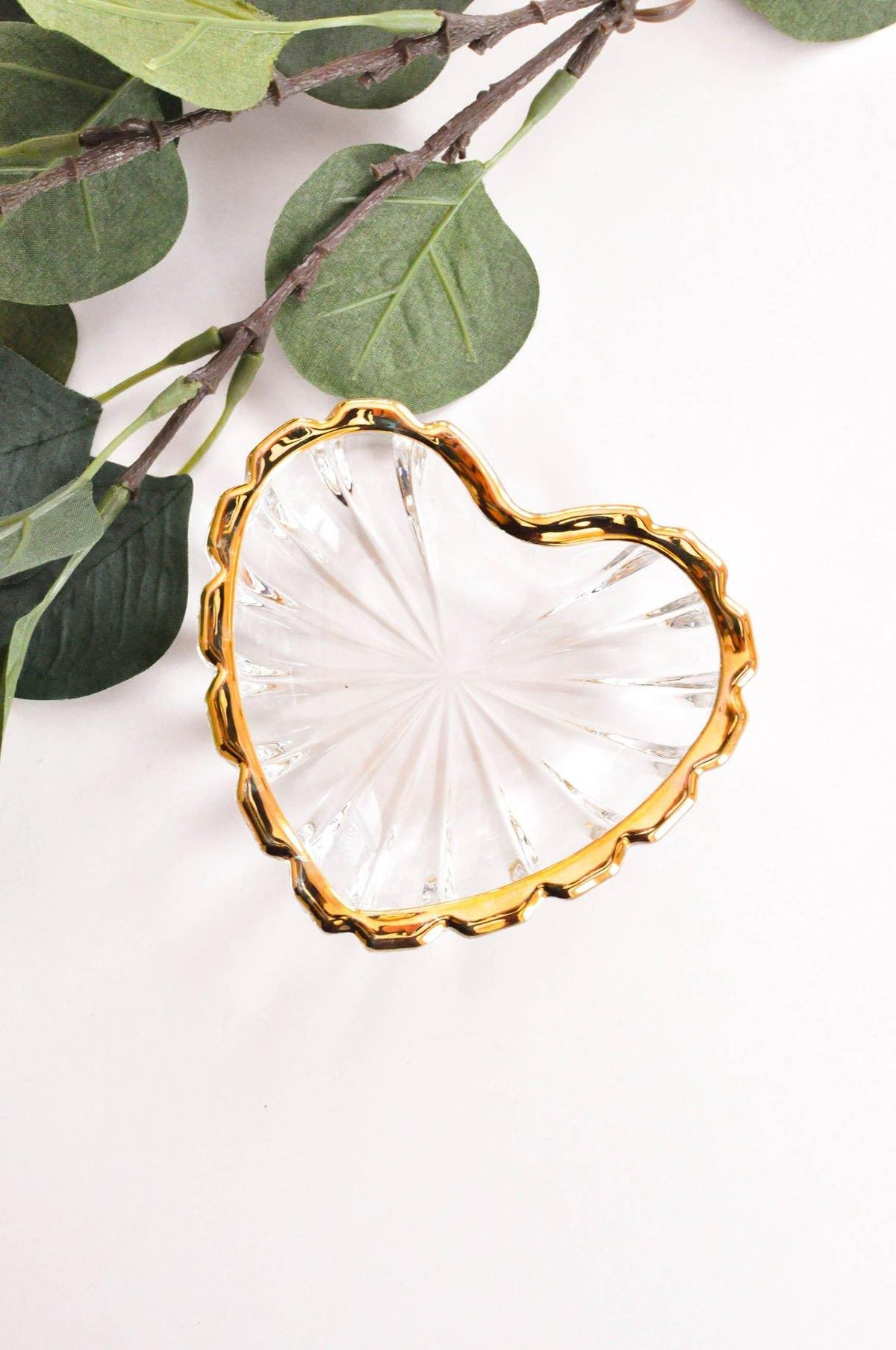 Vintage Gold Heart Shaped Trinket Dish from Sweet and Spark